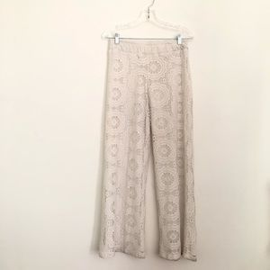 Windsor Flower Power lace white pants 70s style